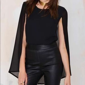 Nasty Gal Tops - Nasty Gal Monica cape top